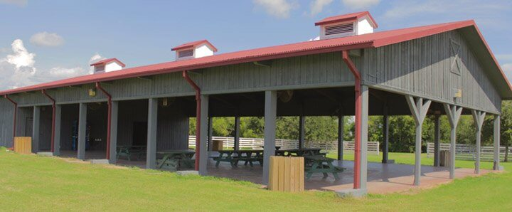 Venues at the park george ranch historical park for Pavilion cost per square foot